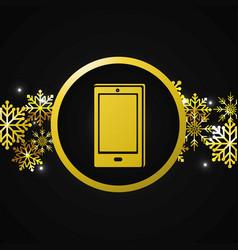 smartphone gift cartoon vector image
