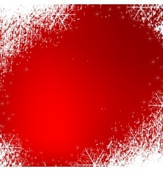 snowflakes background texture red vector image