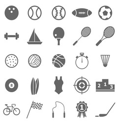 Sport icons on white background vector image vector image
