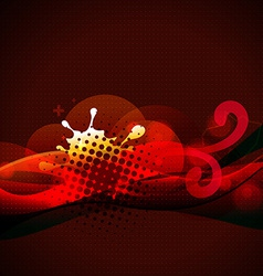 stylish red color background vector image