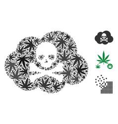 Toxic smoke composition of cannabis vector