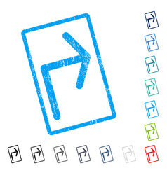 Turn right icon rubber watermark vector