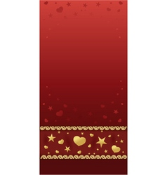 Valentine card back vector