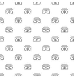 vintage boombox pattern seamless vector image