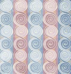 Vintage spiral seamless pattern vector
