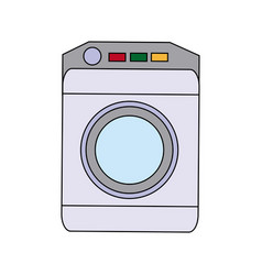 washing machine icon home appliance symbol vector image