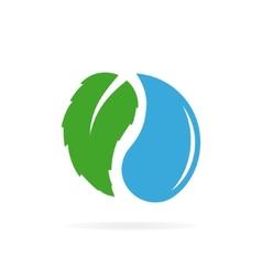 water and leaf logo design vector image