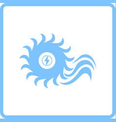 Water turbine icon vector