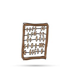 Wooden abacus sketch vector