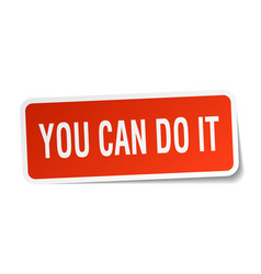 You can do it square sticker on white vector