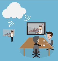 Clouds Conference vector image vector image