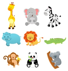 Collection of Safari Animals vector image vector image
