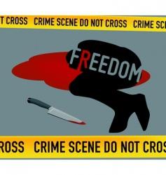 crime scene freedom is dead vector image vector image