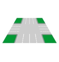 Crossroads perspective view vector image