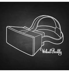 Graphic virtual reality headset vector image vector image