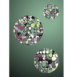 green background bubbles inside vector image vector image