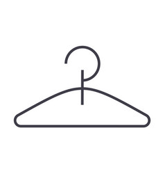 hanger line icon sign on vector image vector image
