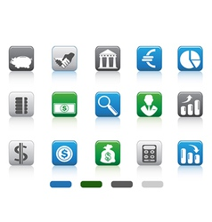 square button of simple Finance and Banking icons vector image vector image