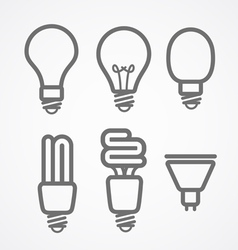 Light lamps icon collection vector image