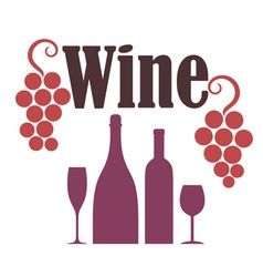 Red Wine Grapes vector image vector image