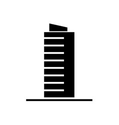 skyscrapper icon black sign vector image