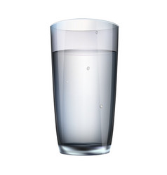 water in a glass isolated vector image