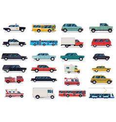 city transport set flat design vector image