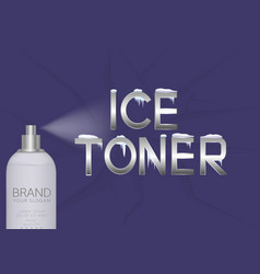 ice toner bottle vector image vector image