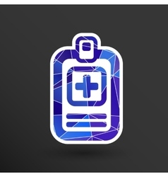 Medical records icon medical check health doctor vector image vector image