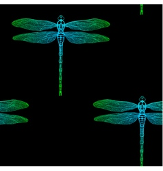 seamless pattern from gradient dragonfly vector image vector image