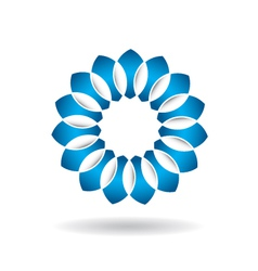 Abstract Blue Flower Infinite Loop vector image vector image