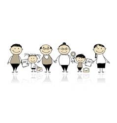 back to school children vector image