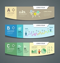 Banners colorful paper cut nfographic design vector image vector image
