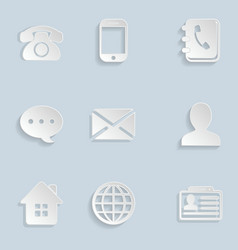 Contact Paper Icons Set vector image vector image