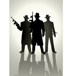 Gangsters vector image vector image