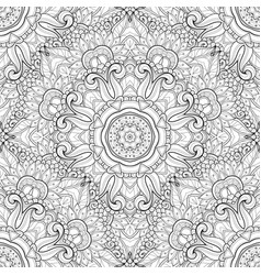 seamless monochrome ornate pattern vector image