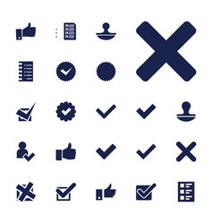 22 yes icons vector