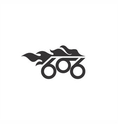 666 fire bike abstract logo vector
