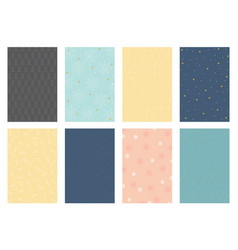 8 winter backgrounds vector image vector image