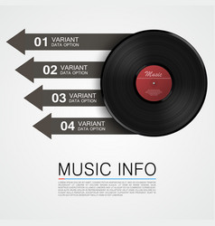 Abstract music info vinyl disk vector