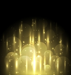 Abstract yellow light and bokeh glowing background vector image