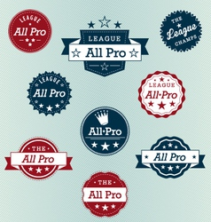 All Pro Labels vector