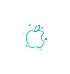 apple icon design vector image