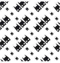 Batman mask pattern on white background vector