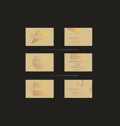 beige gold luxury business cards set for vip event vector image