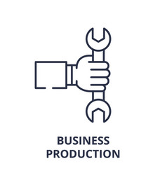 business production line icon concept business vector image