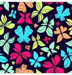 Butterflies Pattern Color vector image