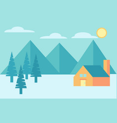 camping in mountains and forest vector image