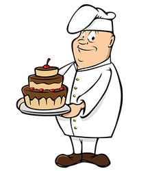 chef male vector image