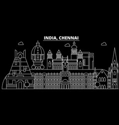 Chennai silhouette skyline india - chennai vector